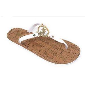 MK Michael Kors White Jelly T Strap Sandal